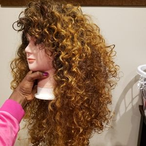 Gorgeous Curly Lace Front Wig Big Hair